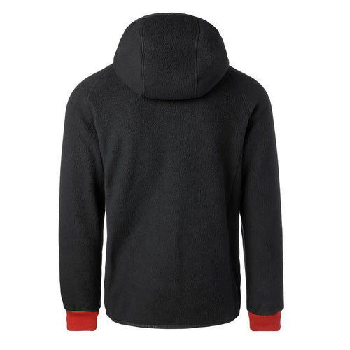 Men's Cubre Hooded Full Zip Fleece Jacket - Black