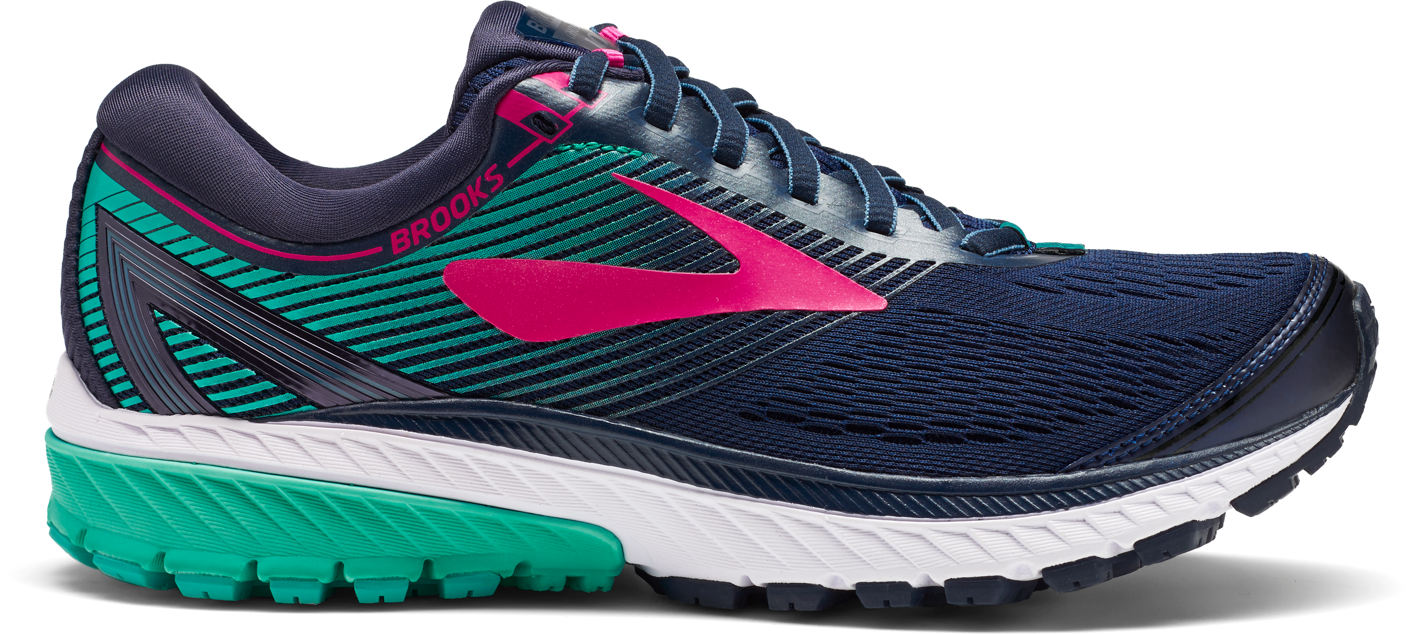 777879c97ad Women s Ghost 10 Running Shoe - Navy Pink Teal Green – Gazelle Sports