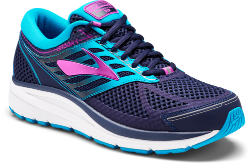Women's Addiction 13 Running Shoes (2E-Wide) - Evening Blue/Teal Victory/Purple Cactus Flower
