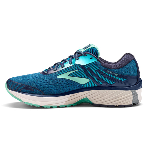 Women's Adrenaline GTS 18 Running Shoe (D-Wide) - Navy/Teal/Mint