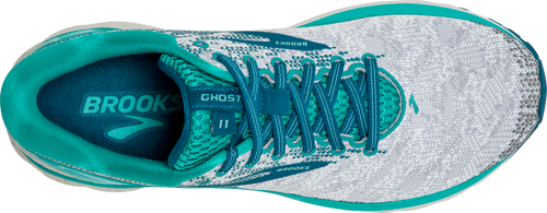 Women's Ghost 11 Running Shoe - White/Grey/Latigo