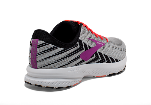 Women's Launch 6 Running Shoe - Grey/Black/Purple