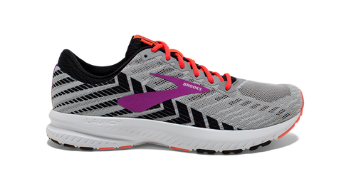 Women's Launch 6 Running Shoe (D-Wide) - Grey/Black/Purple