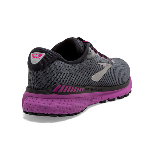 Women's Adrenaline GTS 20 Running Shoe - Ebony/Black/Hollyhock