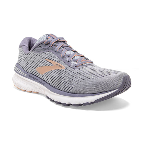 Women's Adrenaline GTS 20 Running Shoe (2A-Narrow) - Grey/Pale Peach/White