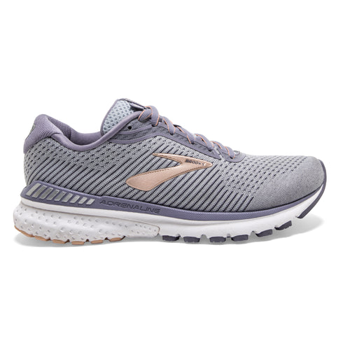 Women's Adrenaline GTS 20 (2E - Extra Wide) Running Shoe - Grey/Pale Peach/White