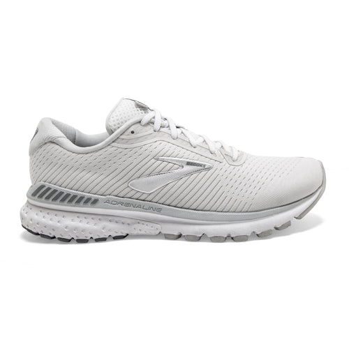Women's Adrenaline GTS 20 Running Shoe (D-Wide) - White/Grey/Silver