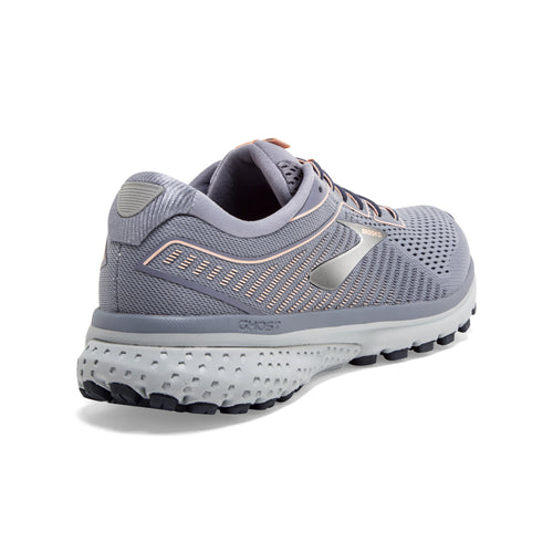Women's Ghost 12 Running Shoe (D - Wide) - Granite/Peacoat/Peach
