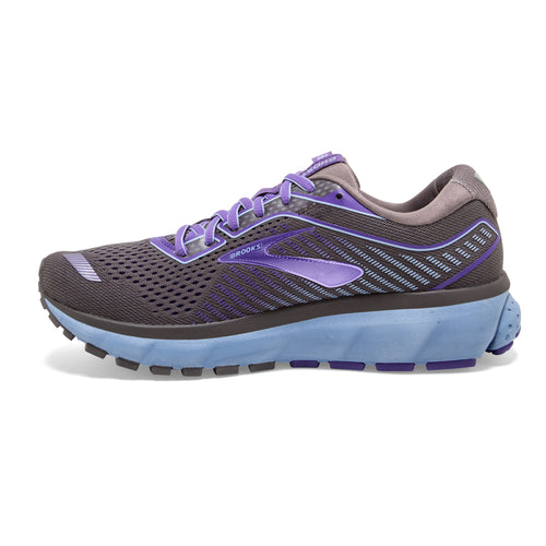 Women's Ghost 12 Running Shoe-Shark/Violet/Bel Air Blue