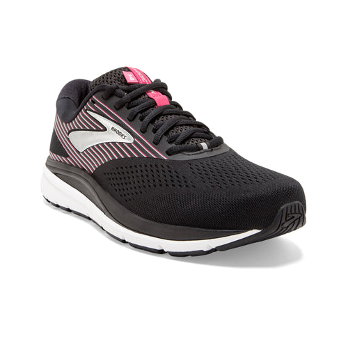 Women's Addiction 14 Running Shoe (2E-Extra Wide) - Black/Hot Pink/Silver