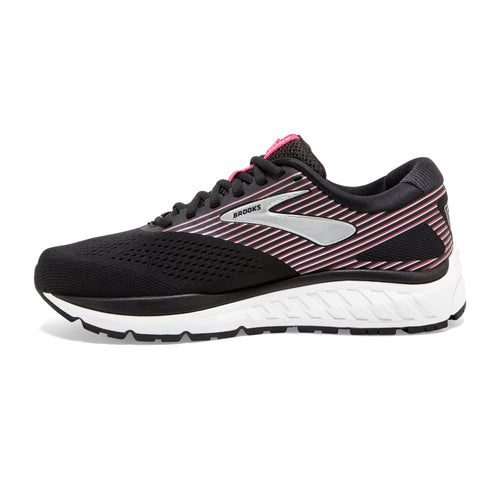Women's Addiction 14 (B - Regular) Running Shoe - Black/Hot Pink/Silver