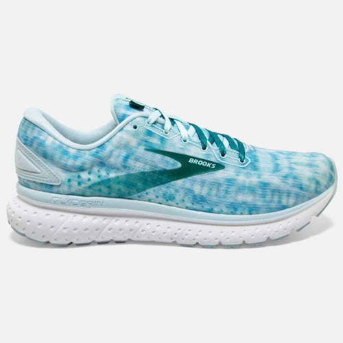 Women's Glycerin 18 Shibori Running Shoe - Light Blue/Teal Green/White