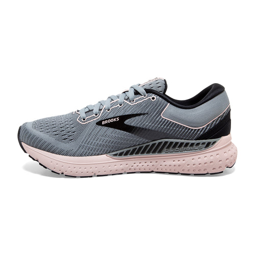 Women's Transcend 7 Running Shoe - Grey/Black/Hushed Violet