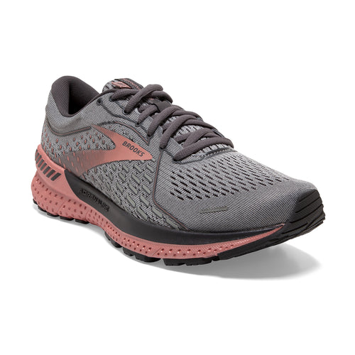 Women's Adrenaline GTS 21 (B - Regular) Running Shoe - Grey/Black/Rose Gold