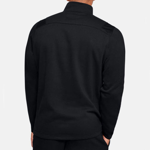 Men's UA Hustle Fleece ¼ Zip Top - Black/White