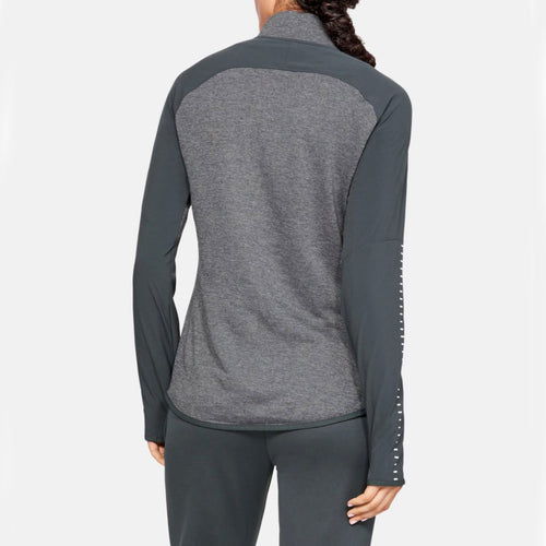 Women's Qualifier Hybrid 1/2 Zip - Stealth Grey/White