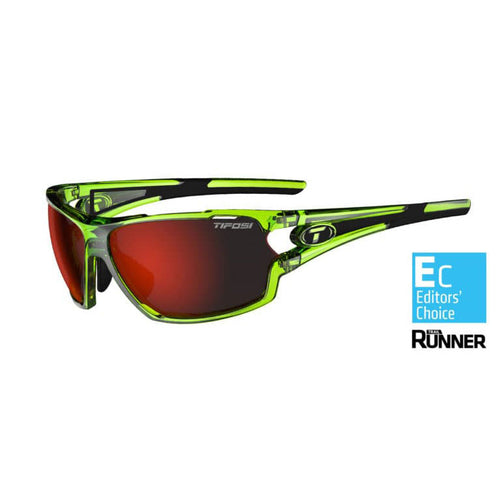 Amok Sunglasses - Crystal Neon Green / Clarion Red / AC Red & Clear Lenses