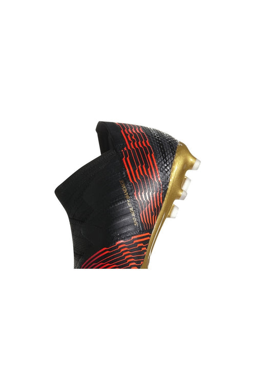 Youth Nemeziz 17+ Firm Ground Cleat - Core Black/Core Black/Solar Red