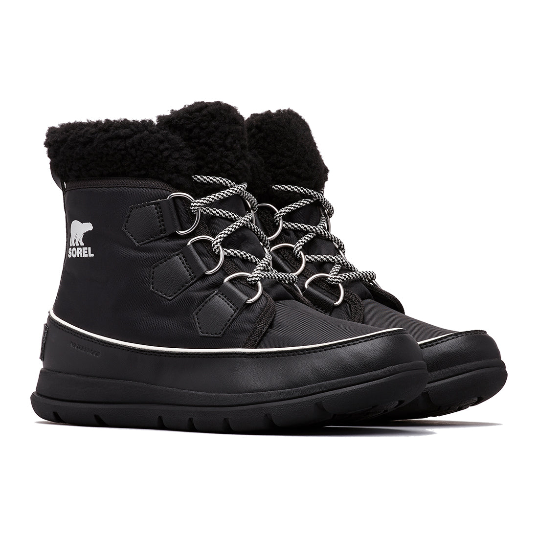 480a54480dc6 Women s Sorel Explorer Carnival Boot - BLACK-SEA SALT – Gazelle Sports