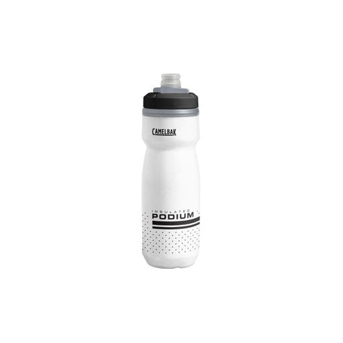 CamelBak Podium Chill 21oz Bike Bottle, Insulated - White/Black