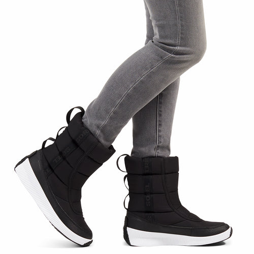 Women's Out N About Puffy Mid Boot - Black