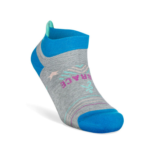 Women's Grit & Grace Embrace Kindness Socks - Midgrey/Bright Turquoise