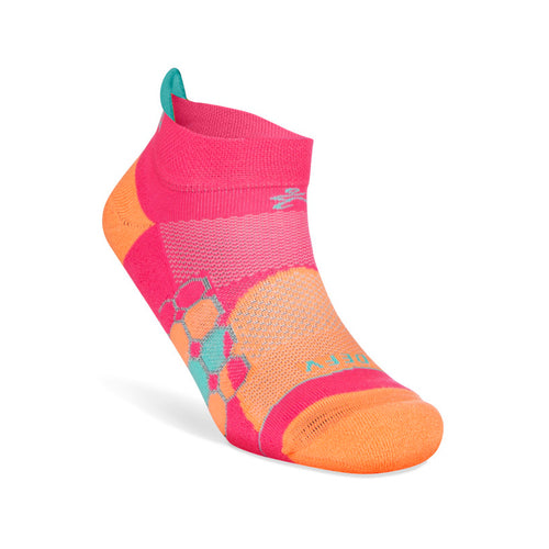 Women's Grit & Grace Defy Gravity Socks - Peach/Watermelon