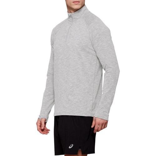 Men's Dorai Quarter Zip Top - Light Grey Heather