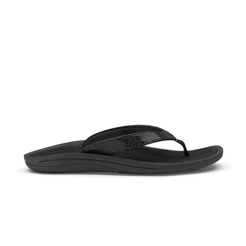 Women's Olukai Kulapa Kai Sandals - Black/Black