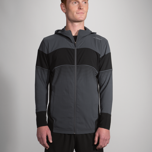 Men's Canopy Jacket - Asphalt/Black Stripe