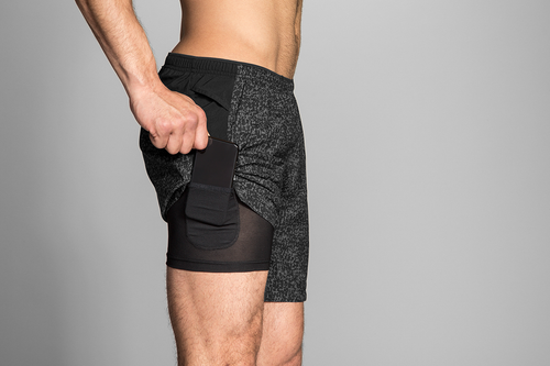 "Men's Sherpa 7"" 2-in-1 Short - Black Static/Black"