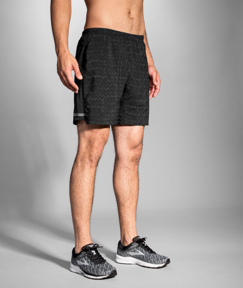 "Men's Sherpa 7"" 2-in-1 Short - Black / Nebula Reflective"