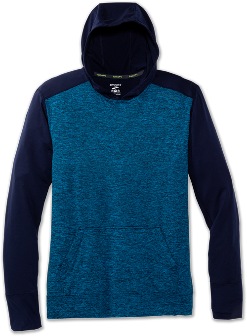 Men's Dash Hoodie - Navy/Heather Azul