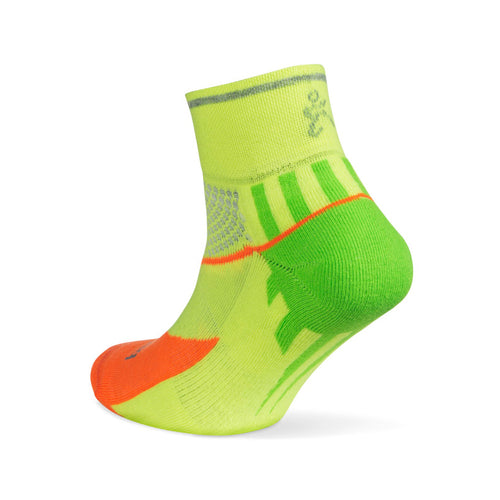 Unisex Enduro Quarter Reflective Socks - Multi Neon