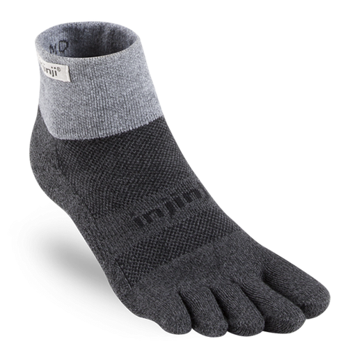 Unisex Trail Mid-Weight Mini Crew Sock - Granite