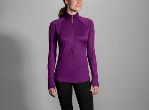 Women's Dash 1/2 Zip - Heather Violet/Violet