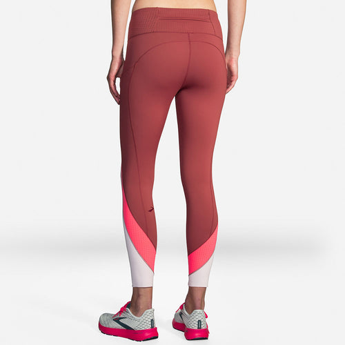 Women's Method 7/8 Tight - Terracotta/Fluoro Pink