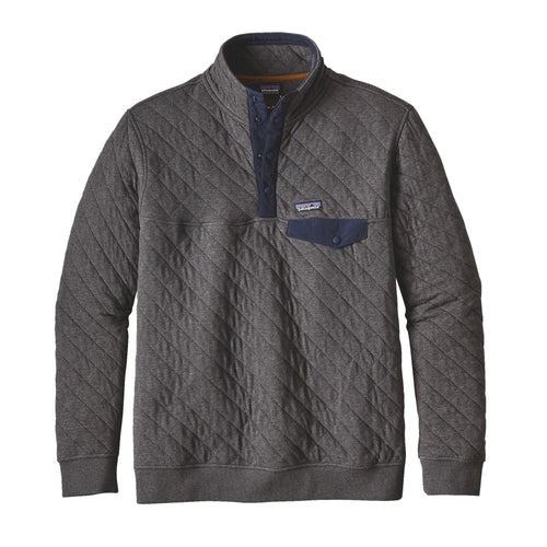 Men's Cotton Quilt Snap T Pullover -Forge Grey