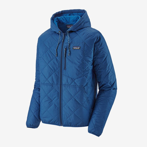 Men's Diamond Quilted Bomber Hoody - Superior Blue