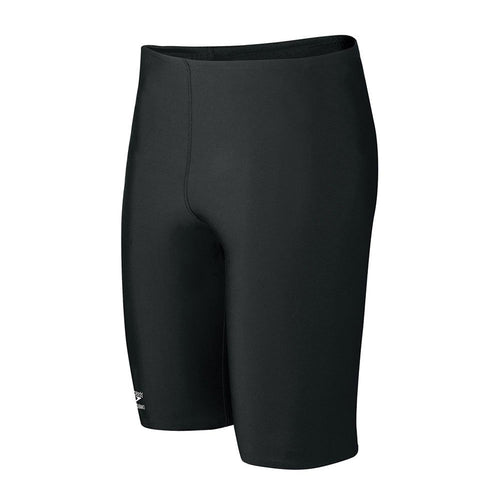 Boys' Solid Endurance Jammer Swimsuit - Black