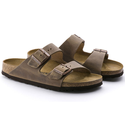 Arizona Cork Tobacco Brown Oiled Leather Sandal