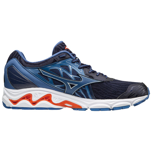 Men's Wave Inspire 14 Running Shoe - Evening Blue/Cherry Tomato