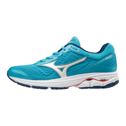 Women's Wave Rider 22 Running Shoe (2A - Narrow) - BLUE ATOLL/GEORGIA PEACH