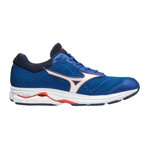 Men's Wave Rider 22 Running Shoe - NAUTICAL BLUE/CHERRY TOMATO