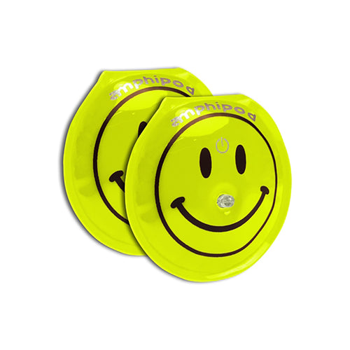 Flash Smiley LED Twin Pack Lights - Yellow
