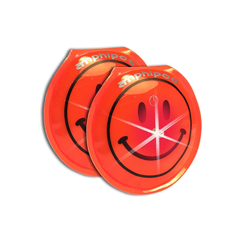Flash Smiley LED Twin Pack Lights - Orange
