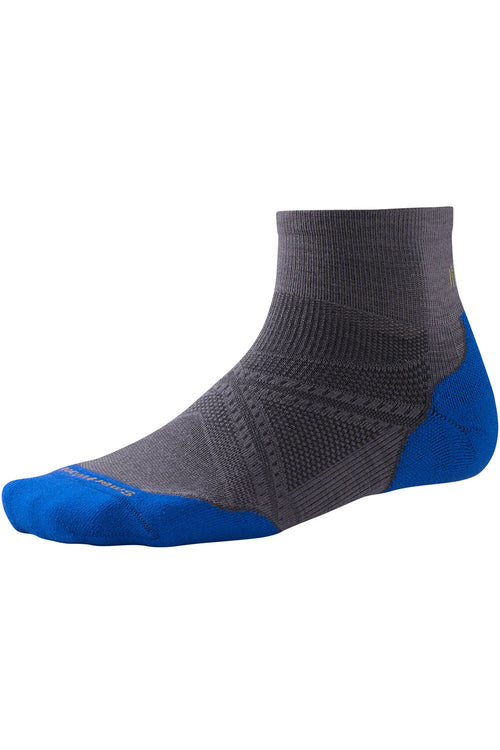 Men's PhD® Run Light Elite Mini Socks - Graphite/Bright Blue