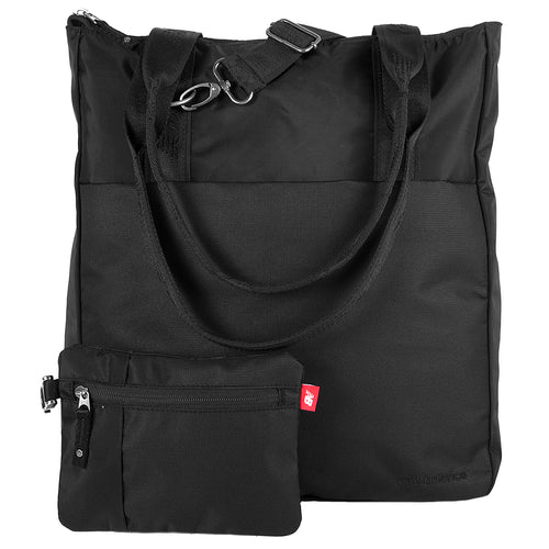 LSE Zip Tote with Pouch - Black
