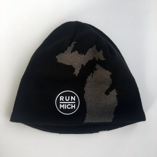 Run Mich Silhouette Beanie - Black