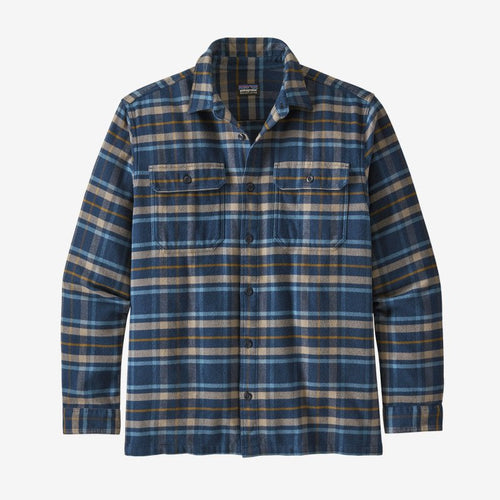 Men's Long Sleeve Fjord Flannel Shirt - Independence: New Navy